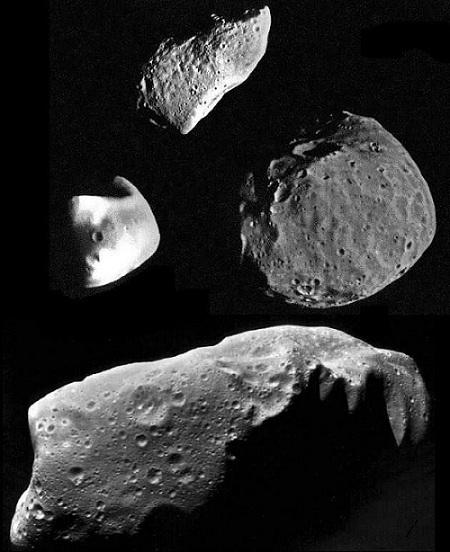 Фото астероидов со спутника