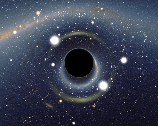 Скопление звезд возле черной дыры