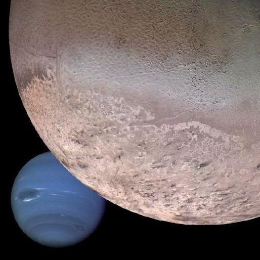 спутник Нептуна - Тритон